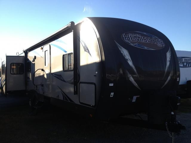 2013 Forest River Hemisphere 298RES Triple Slide Rear Entertainment