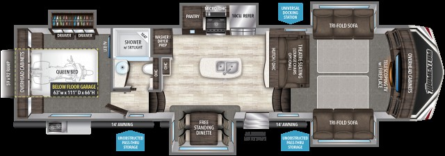 2017 Grand Design Momentum 376TH Front Livingroom Rear Bedroom Five Slide Toy Hauler Must See Brand