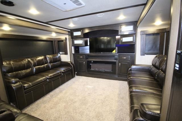 2017 grand design momentum 376th front livingroom rear - Toy haulers with front living room ...