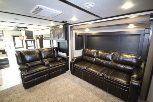 2017 Grand Design Momentum 376th Front Livingroom Rear Bedroom Five Slide Toy Hauler Must See