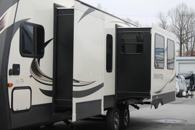 keystone sprinter 312mls rear kitchen travel trailer 3 slides 2