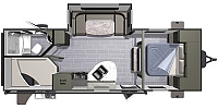 2017 Highland Ridge Open Range Ultra Lite UT2504BH Single Slide Bunkhouse Travel Trailer Duncan SC