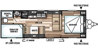 2018 Forest River Salem Cruise Lite 261BHXL Lightweight Bunkhouse Travel Trailer Duncan SC