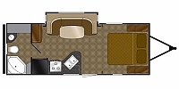2011 Heartland North Trail 21FBS Single Slide Rear Bathroom Travel Trailer Duncan SC