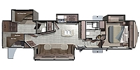 2017 Highland Ridge Mesa Ridge MF374BHS Huge Four Slide Bunkhouse Fifth Wheel Duncan SC