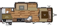 2015 Used Keystone Hideout 27DBS Single Slide Bunkhouse Travel Trailer Duncan SC