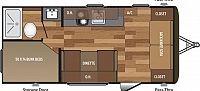 2018 Keystone Hideout 185LHS Rear Bunks Booth Dinette Jack Knife Sofa Full Shower Sleeps 6 Great Starter Travel Trailer CONCORD NC