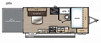 2019 Coachmen Catalina Trail Blazer 19TH Toy Hauler Party Deck 8