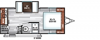 2018 Salem FSX 200RK Travel Trailer Rear Kitchen 1 Slide Queen Bed Big Pantry Duncan SC