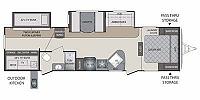 2014 Keystone Bullet Premier 31BHPR Travel Trailer Bunkhouse 2 Slides Outside Kitchen Duncan SC