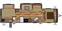 2019 Keystone Hideout 31RBDS Rear Bunk House 2 Slides 2nd Entry Into Bathroom Full Shower U-Shaped Dinette Outdoor Kitchen Aluminum CONCORD NC