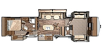 2018 Highland Ridge Mesa Ridge 376FBH Front Living W/ FIreplace Front Bunk House Ent. Center Large U-Shaped Couch DInette Tons of Storage Five Slides CONCORD NC