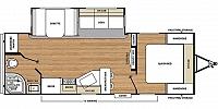 2019 Coachmen Catalina Legacy Edition 243RBS Rear Bath One Slide Kitchen Bar Booth Dinette Fireplace Corner Radius Shower Nice Floor Plan CONCORD NC