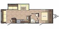 2018 Crossroads Zinger 285RL Rear Living U-Shaped Dinette Corner Radius Shower Queen Bed Entertainment Center One Slide CONCORD NC