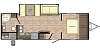 2020 CrossRoads Sunset Trail 253RB Rear Bath One Slide King Bed Outside Kitchen Concord NC