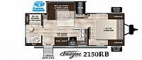 2019 Grand Design Imagine 2150RB Rear Bath Large Shower One Super Slide L-Shaped Sofa/Dinette w/ Hide-a-way Bed Entertainment Center Queen Bed Sliding Doors Modern Design Pet Friendly CONCORD NC
