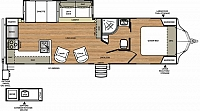 2017 Forest River Vibe 268RKS Rear Kitchen Residential Refer V-Nose Concord NC