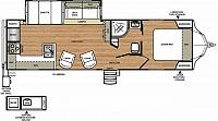 2017 Forest River Vibe 268RKS Rear Kitchen Residential Refer V-Nose Concord NC