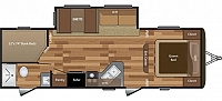 2017 HIDEOUT 272LHS SINGLE SLIDE DOUBLE OVER DOUBLE BUNKHOUSE TRAVEL TRAILER WITH POWER TONGUE JACK CENTRAL VACUUM SYSTEM JACKKNIFE SOFA ELECTRIC AWNING DUNCAN SC