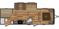 2018 Keystone Hideout 272LHS Travel Trailer Double over Double Bunks Central Vac Outside Shower Duncan SC