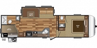 2018 Keystone Hideout 281DBS 5th Wheel Camper Bath and 1/2 Bunkhouse 1 Slide 2nd A/C Prep Outside Kitchen and Shower Duncan SC