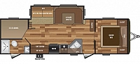 2019 Keystone Hideout 28BHS Bunkhouse Travel Trailer 1 Slide Double over Double Bunks Theater Seating Outside Kitchen LED Accents Limited 3 Year Warranty Duncan SC