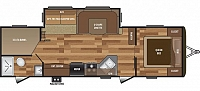 2017 Keystone Hideout 28BHS Bunkhouse Travel Trailer 1 Slide Double over Double Bunks Theater Seating Outside Kitchen Power Jack Duncan SC