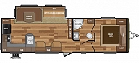 2018 KEYSTONE HIDEOUT 28RKS REAR KITCHEN TRAVEL TRAILER WITH OUTSIDE KITCHEN POWER JACKS AND BUILT IN VAC SYSTEM DUNCAN SC