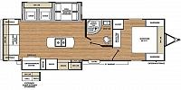 2019 Coachmen Catalina Legacy Edition 293RLDS Rear Living Recliner Chairs Fireplace Free Standing Dinette Kitchen Island Large Windows Corner Radius Shower Storage Space Outside Kitchen 2 Slides CONCORD NC