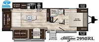 2019 Grand Design Imagine 2970RL Rear Living Theatre Seating TV Fireplace Kitchen Island Booth Dinette Two Slides Beautiful CONCORD NC