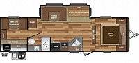 2017 Keystone Hideout 29BKS Single Slide Bunkhouse Outside Kitchen Central Vacuum System CONCORD NC