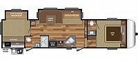 2019 Keystone RV Hideout 308BHDS Rear Bunk House 2 Entry Outdoor Kitchen One & Half Bath 2 Slides U-Shaped Dinette CONCORD NC
