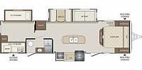 2017 KEYSTONE BULLET 311BHS BUNKHOUSE TRAVEL TRAILER 3 SLIDES 2 A/C's OUTSIDE KITCHEN LED LIGHTS DUNCAN SC