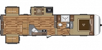 2017 KEYSTONE HIDEOUT 315 FIFTHWHEEL DOUBLE SLIDE REAR LIVING BUILT IN VAC SYSTEM DUNCAN SC