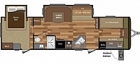 2017 KEYSTONE HIDEOUT 31FBDS TRAVEL TRAILER FRONT BUNKROOM 2 SLIDES REAR BEDROOM OUTSIDE KITCHEN DUNCAN SC
