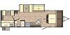 2020 CrossRoads Sunset Trail Super Lite 289QB Quad Bunk Room Single Slide Outside Kitchen Concord NC