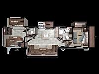 2019 Mesa Ridge 328BHS Bunk House with Half Bath 4 Slides Super Sofa Kitchen Island Residential Fridge King Bed CONCORD NC