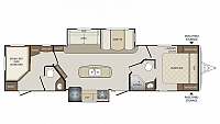 2017 Thor Keystone Bullet 330BHS Ultra Lite Bunkhouse Island Kitchen Bath and a Half CONCORD NC