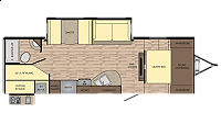 2018 Crossroads Sunset Trail 262BH Rear Double Bunks Booth Dinette Full Shower One Slide Outdoor Kitchen 3 Year Structure Warranty CONCORD NC