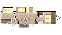 2018 Crossroads Sunset Trail 331BHS Triple Slide Bunkhouse Bath and a Half Lightweight Tall Ceilings 60x80 Queen Bed Island Kitchen CONCORD NC