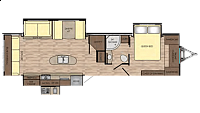 2018 Crossroads Sunset Trail Grand Reserve 33SI Rear Living Room Theatre Seating Fireplace Free Standing Dinette Pantry Lots of Storage Outside Kitchen 3 Slides CONCORD NC