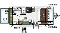 2018 Flagstaff E-Pro 17PR Hybrid Travel Trailer 1 Popout Murphy Bed Full Galley Full Dry Bath WiFi Booster Outside Shower Duncan SC