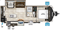 2018 Grand Design Imagine 2670MK Travel Trailer 2 Slides Heated Recliners Work Desk Retractable TV CONCORD NC
