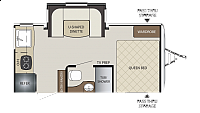 2018 Thor Keystone Bullet Crossfire 1750RK Rear Kitchen U-Shaped Dinette Slide Out Queen Bed Tub Shower CONCORD NC