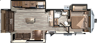 2018 Open Range Fifth Wheel 319RLS Rear Living Open Floor Plan Free Standing Dinette Fireplace Beautiful CONCORD NC