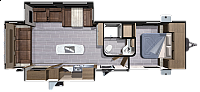 2018 Highland Ridge Open Range 275RLS Travel Trailer Rear Living New Decor Whisper A/C 2nd A/C Prep W/D Prep Outside Kitchen w/Grill Outside TV Prep Lightweight Duncan SC