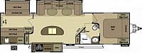 2014 Open Range Light 308BHS Triple Slide Bunkroom Outside Kitchen Concord NC