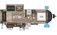 2019 Grand Design Reflection 297RSTS Travel Trailer Rear Living 2 Slides Fireplace Center Island 2 A/C's Power Jacks Outside Kitchen w/TV 3 Year Limited Warranty Duncan SC