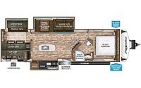 2016 Grand Design Reflection 308BHTS Travel Trailer Bunkhouse 3 Slides Outside Kitchen Power Jacks 2 A/C's Duncan SC