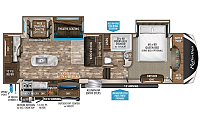 2019 Grand Design Reflection 320MKS Triple Slide Middle Kitchen 5th Wheel Trailer Duncan SC